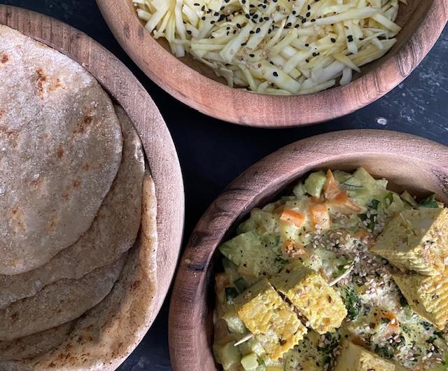 Naans & Curry indien