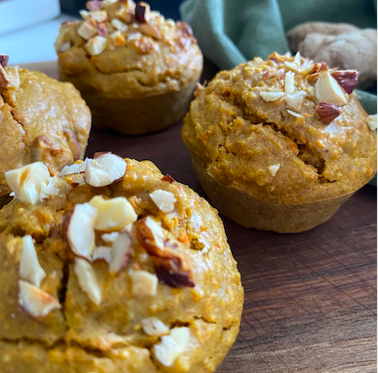 Muffins carottes / gingembre