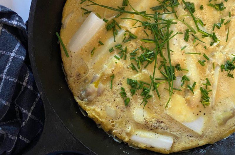 """""""Omelette"""" végétale aux asperges"""